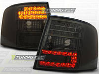 Альтернативная оптика для AUDI A6 `97-`01, универсал, T/L, фонари задние, светодиодные, тонированные (тюнинг оптика, цена за комплект)
