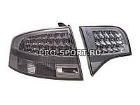 Альтернативная оптика для AUDI A4 `04-`07, T/L, фонари задние, светодиодные, тонированные NO (тюнинг оптика, цена за комплект)