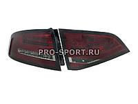 Альтернативная оптика для AUDI A4 Sedan '08- , фонари задние, светодиодные, тонированный красный (тюнинг оптика, цена за комплект)