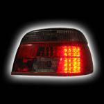 Альтернативная оптика для BMW E39, '95-`03, T/L,фонари задние, светодиодные, тонированный красный NO (тюнинг оптика, цена за комплект)