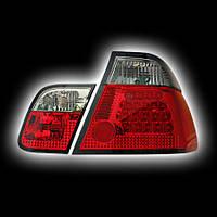 Альтернативная оптика для BMW E46, '99-'00 4D, T/L,фонари задние,  светодидные, тонированный красный NO (тюнинг оптика, цена за комплект)