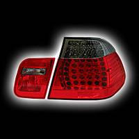 Альтернативная оптика для BMW E46 Седан, '98-'01, T/L ,фонари задние,светодидные красный/тонированный NO (тюнинг оптика, цена за комплект)