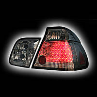 Альтернативная оптика для BMW E46, '01-`02 4D, T/L,фонари задние,  светодиодные, тонированный хром NO (тюнинг оптика, цена за комплект)