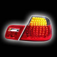 Альтернативная оптика для BMW E46 `99-`03 COUPE/CONVERTIBLE, фонари задние, светодиодные, красные, тонированные (тюнинг оптика, цена за комплект)