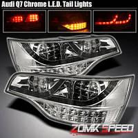 """Альтернативная оптика для Audi Q7 """"07-, LED хром (тюнинг оптика, цена за комплект)"""