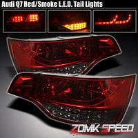 """Альтернативная оптика для Audi Q7 """"07-, LED красный/тонированный (тюнинг оптика, цена за комплект)"""