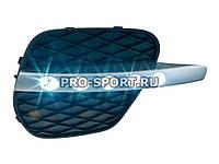 Альтернативная оптика для BMW X5 `10- заглушки противотуманных фар с дневными ходовыми огни, с габаритными огнями (тюнинг оптика, цена за комплект)