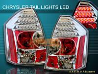 """Альтернативная оптика для Chrysler 300C """"05-07, LED хром (тюнинг оптика, цена за комплект)"""