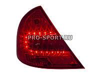 Альтернативная оптика для FORD MONDEO `00-`07, T/L, фонари задние, светодиодные, красные, тонированные (тюнинг оптика, цена за комплект)