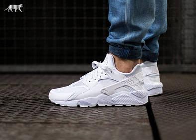 Женские мужские Nike Air Huarache all White