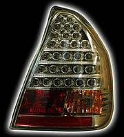Альтернативная оптика для HYUNDAI ACCENT, T/L, светодиодные, прозрачный/хром, HY031-B0WE2 (Таганрог) (тюнинг оптика, цена за комплект)