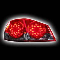 Альтернативная оптика для HONDA CIVIC 4D '06-, T/L, фонари задние светодиодные, красные/тонированные NO (тюнинг оптика, цена за комплект)