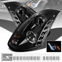 "Альтернативная оптика для Infiniti G35 coupe ""03-06, черный (тюнинг оптика, цена за комплект)"