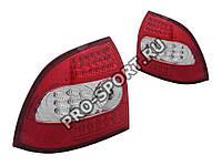 Альтернативная оптика для Фонари задние Lada Priora, светодиодные, прозрачные, красные (тюнинг оптика, цена за комплект)