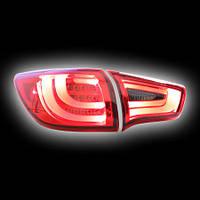 Альтернативная оптика для KIA SPORTAGE '10- фонари задние, «BMW Series Style», тонированный красный (тюнинг оптика, цена за комплект)