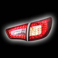 Альтернативная оптика для KIA SPORTAGE `11- фонари задние, светодиодный поворотник, прозрачно красные, 2 внутр.+2 внеш. (тюнинг оптика, цена за