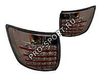 Альтернативная оптика для Фонари задние LADA GRANTA 2190, светодиодные, тонированный хром (тюнинг оптика, цена за комплект)