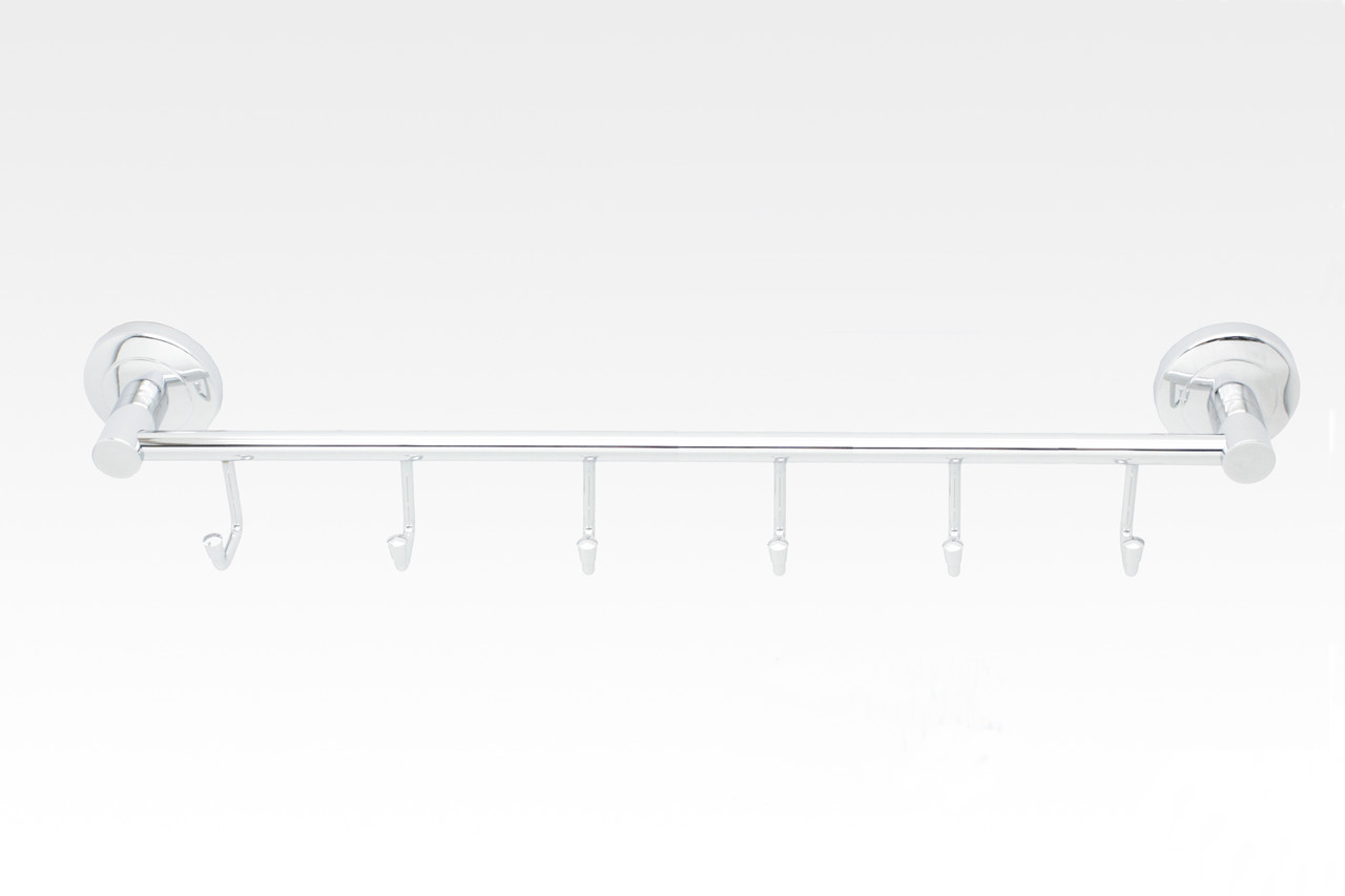 Тримач рушників з 6 гачками латунний, серія Nova