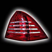 Альтернативная оптика для MB W203 `00-'03, T/L LED светодиодный красный-белый, BZ068-BURE2 (тюнинг оптика, цена за комплект)