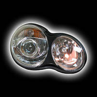 Альтернативная оптика для MB W203 `01-'07,C-class  фары, прозрачный, линза NO (тюнинг оптика, цена за комплект)