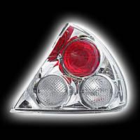 Альтернативная оптика для MITSUBISHI LANCER '98-00, T/L, фонари задние хром (тюнинг оптика, цена за комплект)
