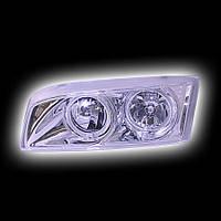 """Альтернативная оптика для MITSUBISHI LANCER `97-, фары, хром, """"ангельские глазки""""  MB274-B00HW (тюнинг оптика, цена за комплект)"""