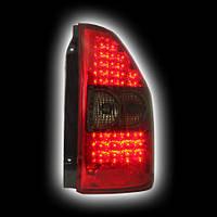 Альтернативная оптика для MITSUBISHI PAJERO MONTERO `03-`05, T/L, фонари задние, светодиодные, тонированный красный (тюнинг оптика, цена за комплект)