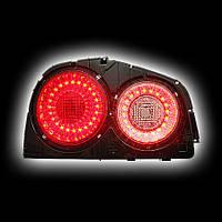 Альтернативная оптика для NISSAN R34 SKYLINE `98-`02, T/L, фонари задние, светодиодные, тонированный NO (тюнинг оптика, цена за комплект)