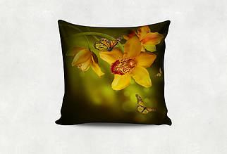 Подушка Жёлтая  Орхидея