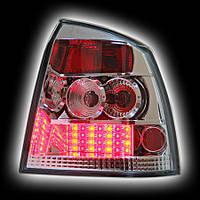 Альтернативная оптика для OPEL ASTRA G '98-, T/L,фонари задние,светодиодный хром NO (тюнинг оптика, цена за комплект)