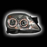 "Альтернативная оптика для OPEL ASTRA H `04- фары ""ангельские глазки"", хром JATH04-PHHLM (тюнинг оптика, цена за комплект)"