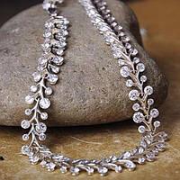 Серебряное женское колье (фианиты)