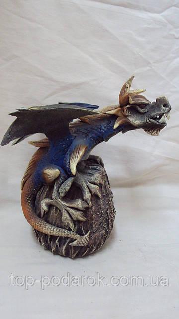 Подсвечник дракон на кокосе высота 20см