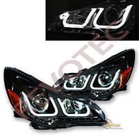 Альтернативная оптика для 10-14 Subaru Outback / Legacy i8 Style U LED Black Projector Headlights (тюнинг оптика, цена за комплект)