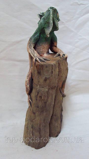 Статуэтка Варан на дереве высота 35 см, фото 1