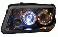 "Альтернативная оптика для VW BORA '99-, H/L, projector, ""ангельские глазки"", хром JBR-PHHLC-C  (тюнинг оптика, цена за комплект)"
