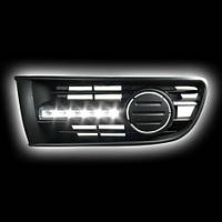 Альтернативная оптика для VW POLO 02-05 заглушки противотуманных фар с дневными ходовыми огнями (тюнинг оптика, цена за комплект)