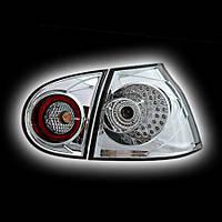 Альтернативная оптика для VW GOLF 5 `03-, T/L,фонари задние,  светодиодный, хром NO (тюнинг оптика, цена за комплект)