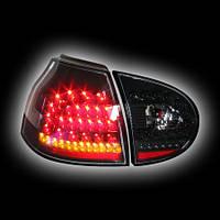 Альтернативная оптика для VW GOLF 5 `03-, фонари задние, светодиодные, черные, светодиодный поворотник NO (тюнинг оптика, цена за комплект)