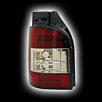 Альтернативная оптика для VW T5 BUS Transporter, T/L,фонари задние,  светодиодные, кристальный, красный NO (тюнинг оптика, цена за комплект)