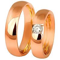 Золотое обручальное кольцо (фианит)