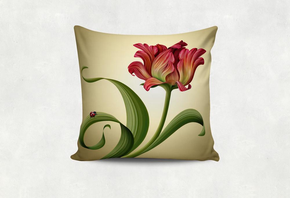 Подушка Мечтательный Тюльпан