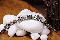 Серебряный женский браслет со слониками Украина