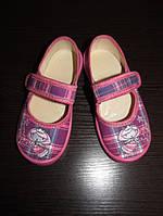 """Дитячі текстильні тапочки """"Принцеси"""" для дівчинки Waldi, шкіряна устілка 24 розмір"""