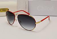 Женские солнцезащитные очки Chloe CE100 sl оправа красная кожа, фото 1