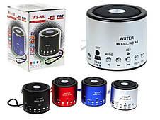 Портативна акустична система WS-A8 Mini Speaker WSTER, фото 2
