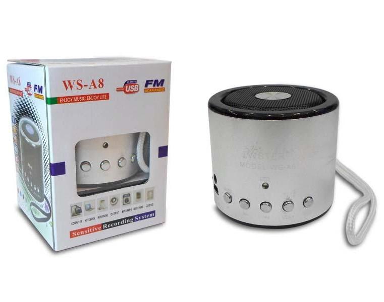 Портативна акустична система WS-A8 Mini Speaker WSTER