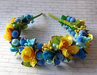Ободок Роскошь (сине-желтый)