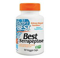 Серрапептаза 90 капс 40000 ед противовоспалительный фермент растворение тромбов онкопротектор Doctor's BestUSA