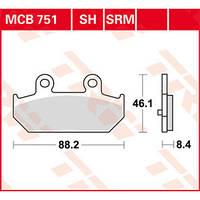 Тормозные колодки для Suzuki Burgman TRW / Lucas MCB751SH